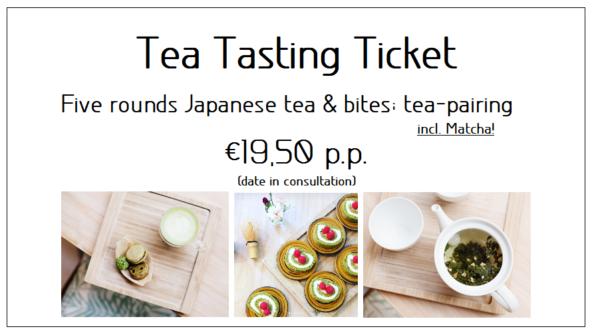Tea Tasting Ticket (datum in overleg)