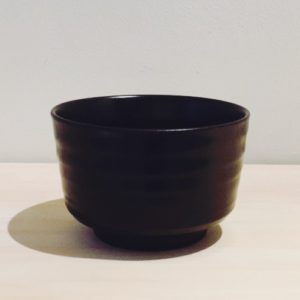 Black matcha bowl