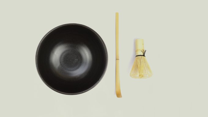Matcha kit – met zwarte kom (3-delig)
