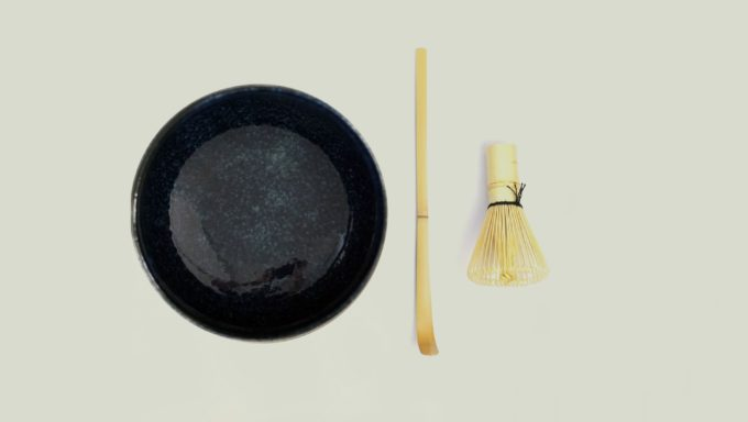 Matcha kit – met kobalt blauwe kom (3-delig)