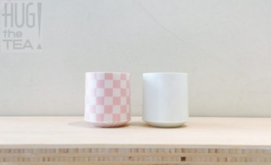 Theekopjes Wit/Roze by HUG THE TEA (set van 2)