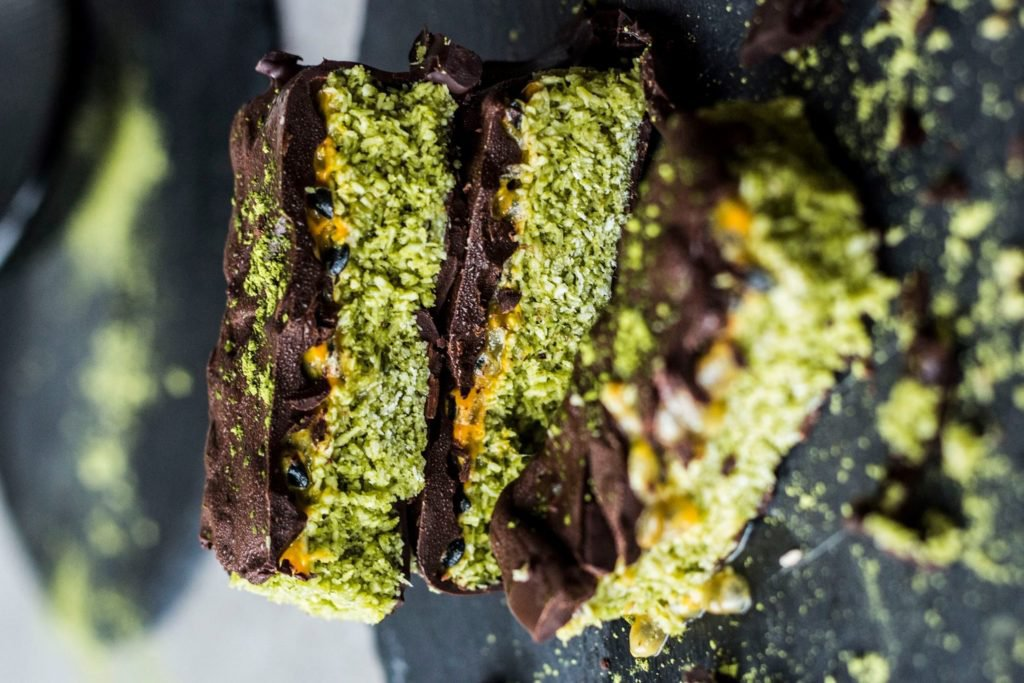 Matcha Coconut Bars (by the Green Happiness)