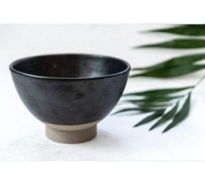 Shodai Chawan – Japanse kom – Donkergrijs glazuur