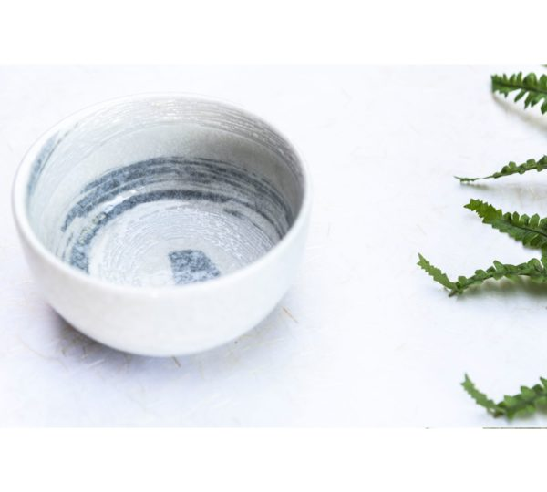 Matcha bowl – White Swirl