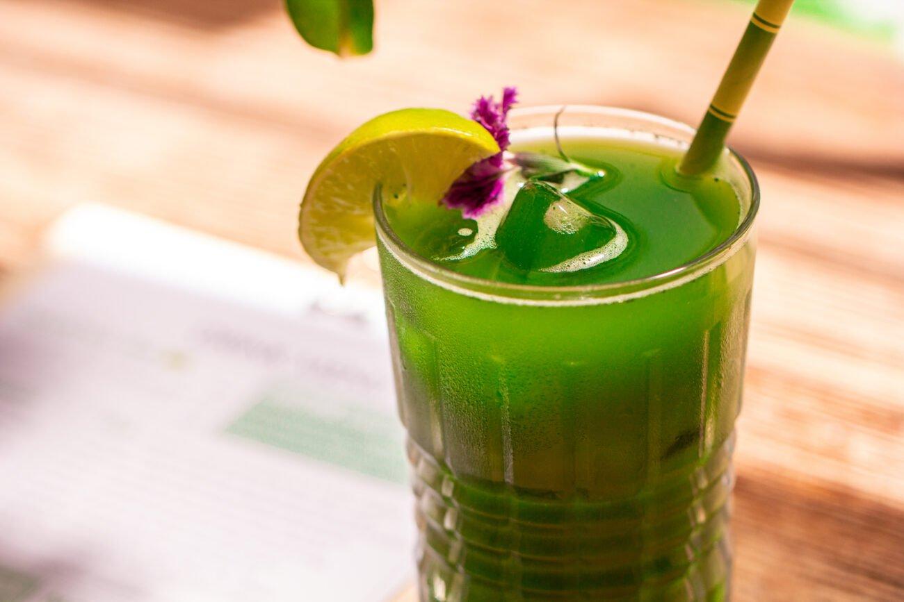 matcha green iced tea